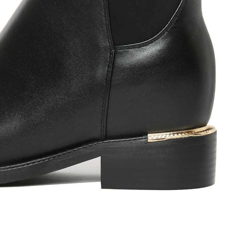 Masgulahe 2019 ใหม่แฟชั่นรองเท้าหนังผู้หญิง bling เซ็กซี่ผ้ายืดเข่ารองเท้าบูทสูงสำหรับรองเท้าสตรีฤดูหนาว