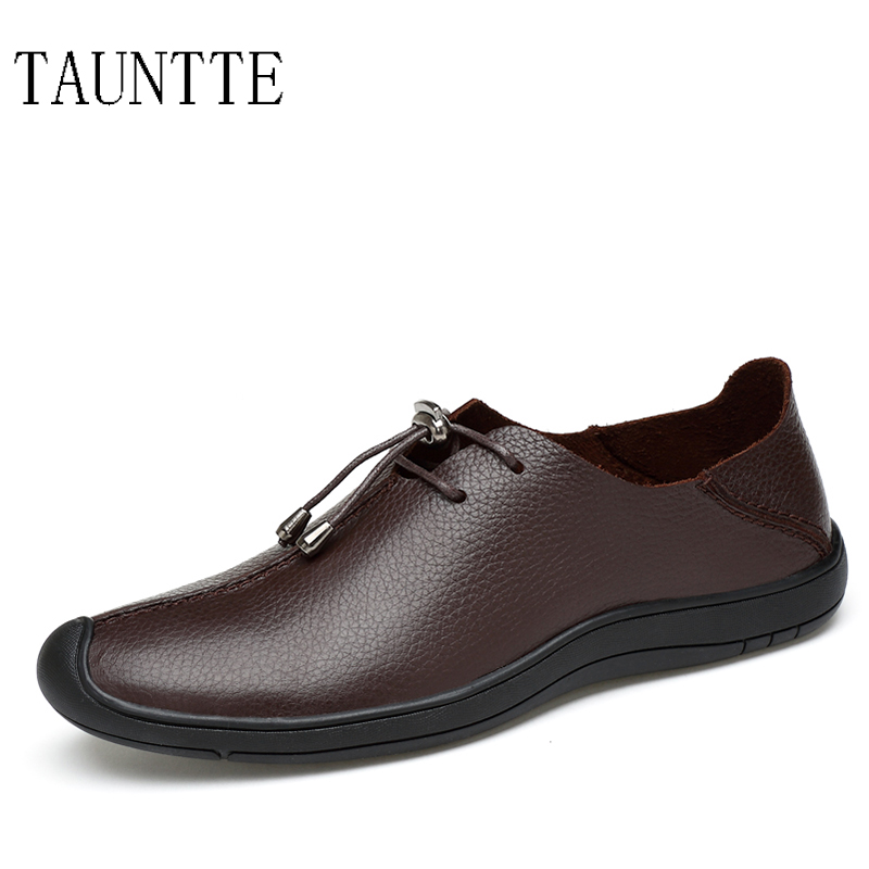 Tauntte 2017 Summer New Men Casual Genuine Leather Shoes Slip On Breathable Anti-Odor Men Shoes For Free Shipping branded men s penny loafes casual men s full grain leather emboss crocodile boat shoes slip on breathable moccasin driving shoes