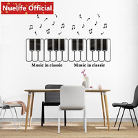 Color piano note pattern acrylic wall stickers kids room music room sofa background wall decorative wall stickers N4