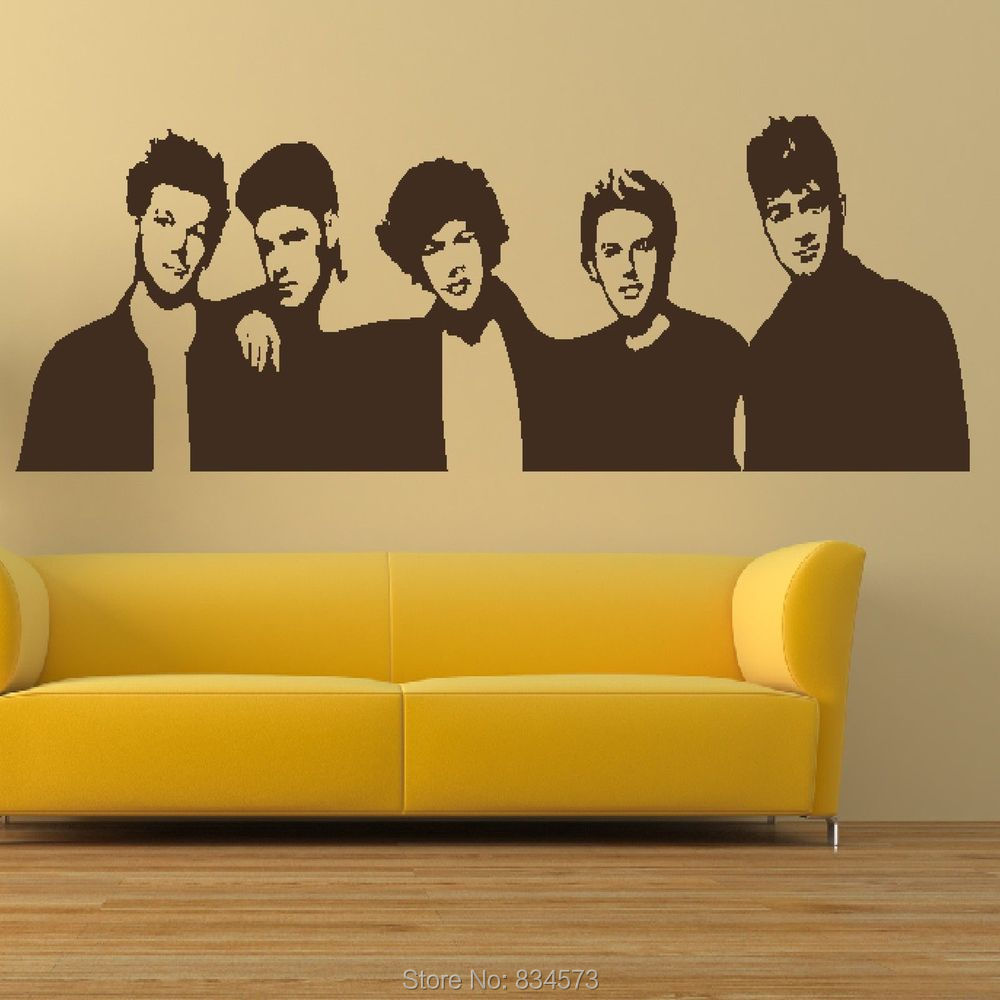 One Direction Boyband 1D Silhouette Wall Art Stickers Decal Home DIY ...