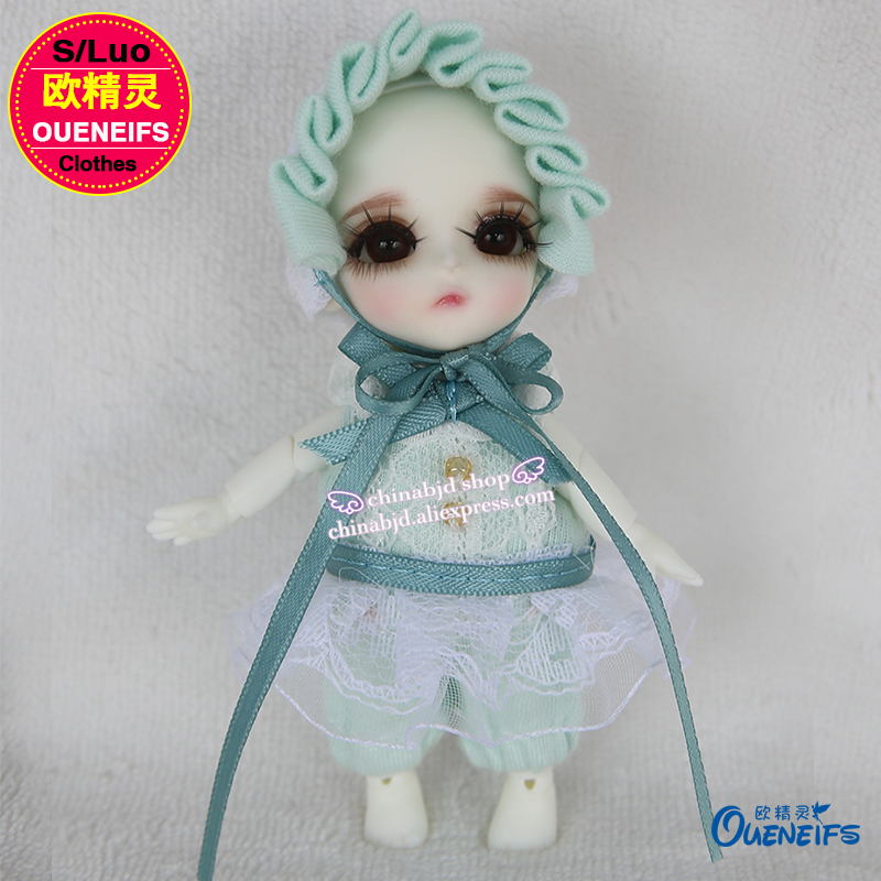 OUENEIFS free shipping girl boy baby jumpsuits send cap, 1/12 bjd sd doll clothes, have not wig or doll YF12-29-30-31-32