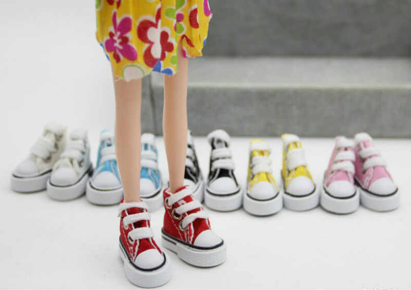 1Pair Denim Canvas Shoes Shoes For Doll for BJD Toy Mini Doll Shoes for Sharon Doll Boots Dolls Sneakers Accessories