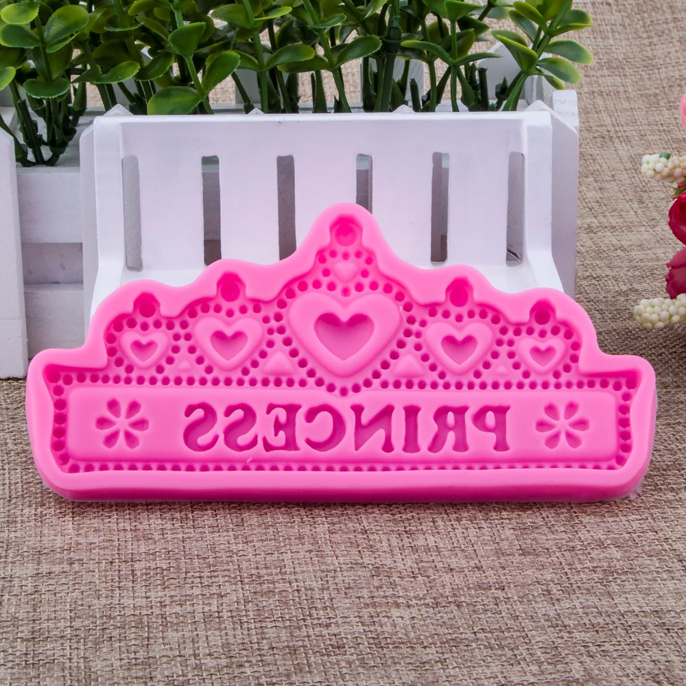 Princess Crown Shape Fondant cake silicone mould Kitchen for pastry candy Gum paste Chocolate Trim molding removal tool FT-0949
