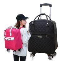Universal wheel pull rod bag shoulder Backpack Travel Bag Oxford cloth suitcase waterproof boarding bag for men and women