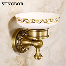 цена на Europen style whole brass soap holder bathroom Antique bronze finish brass Soap basket soap dish soap holder ZL-8503F