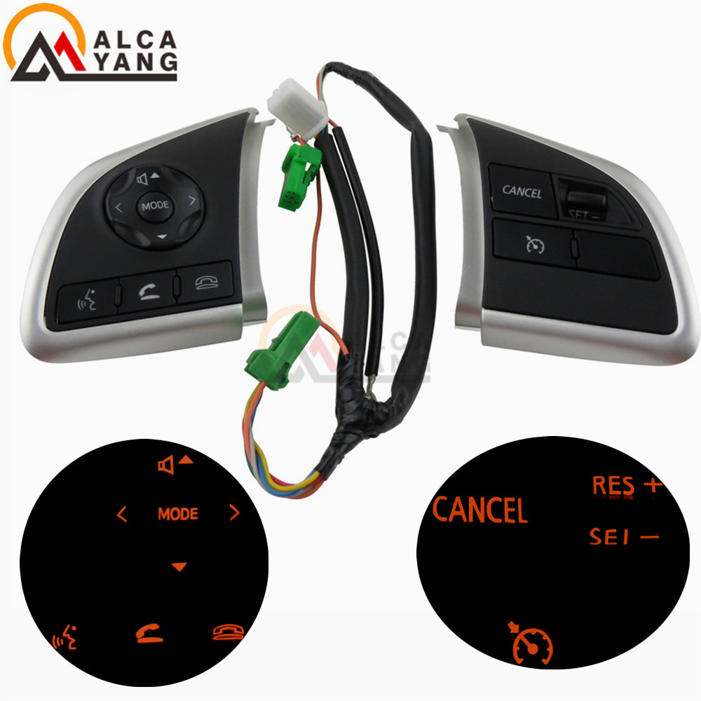 For Mitsubishi Outlander 2013 2014 2015 Mirage 2014 2015 Audio Radio Control Cruise Control Switch Steering Wheel Switch Button-in Car Switches & Relays from Automobiles & Motorcycles