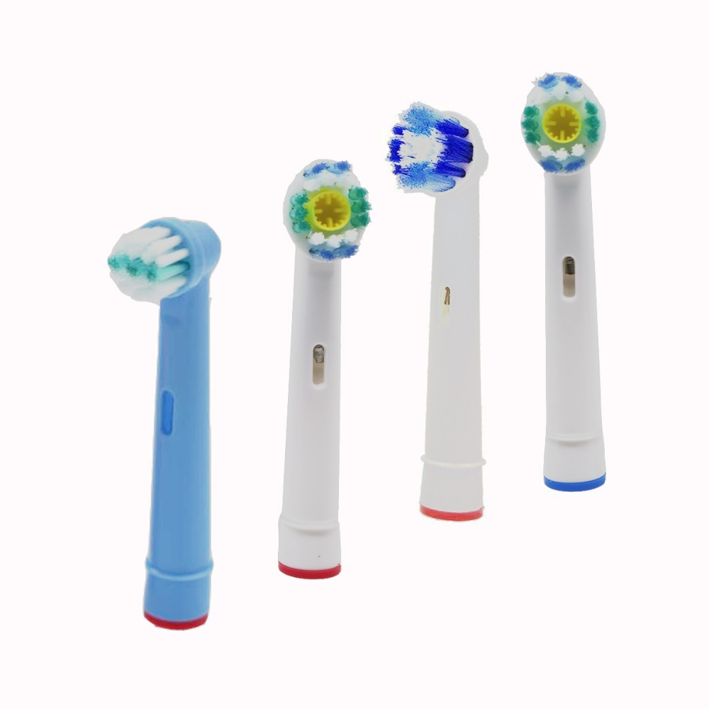 8Pcs Brush Heads Five Type For Oral-B Electric Toothbrush Fit Advance Power/Vitality Precision Clean/Pro Health/Triumph/3D Excel