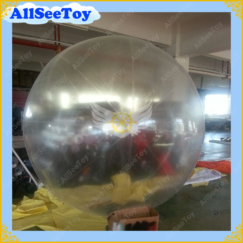 Transparent Color 2m Diameter Inflatable Helium Balloon With Plastic Boston Air Valve/Inflatable Sky Ball Sphere /Free Shipping 2m by 2m inflatable square advertising helium balloon