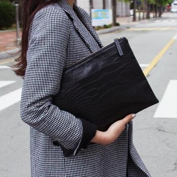 2019 New Fashion Crocodile Grain Women Envelope Clutch Bag Ladies Evening Party Large Clutches Handbag Alligator purses bolsas