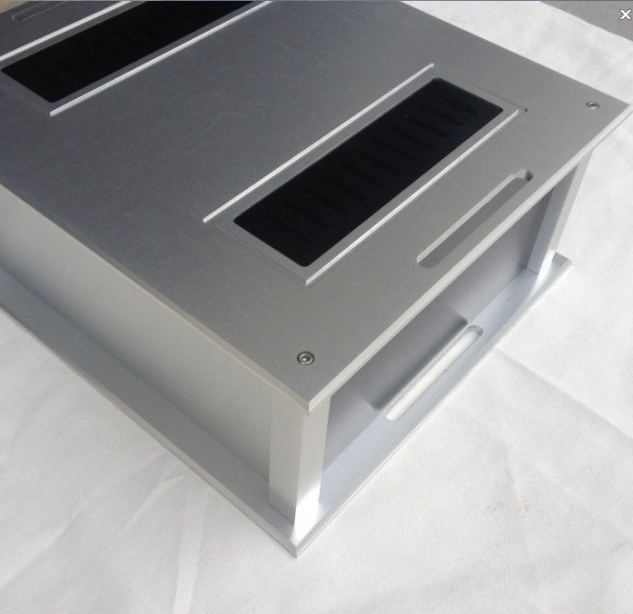 QUEENWAY Classic A mini all aluminum chassis hifi power case box power amplifier DIY 350mm*132mm* 300mm  350*132* 300mm queenway audio 2215 cnc full aluminum amplifier case amp chassis box 221 5mm150mm 311mm 221 5 150 311mm