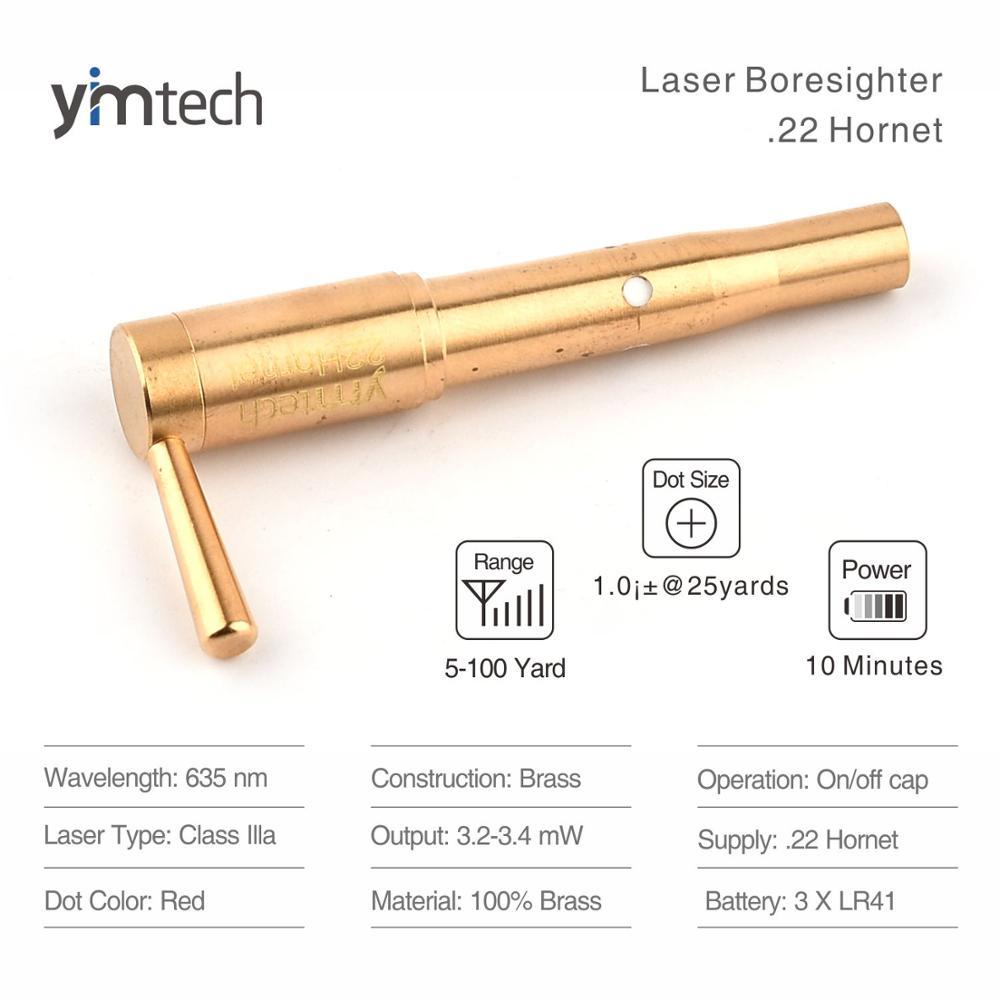 Boresighters .22 Hornet caliber laser bore sight red dot Laser boresighter bullet cartridge