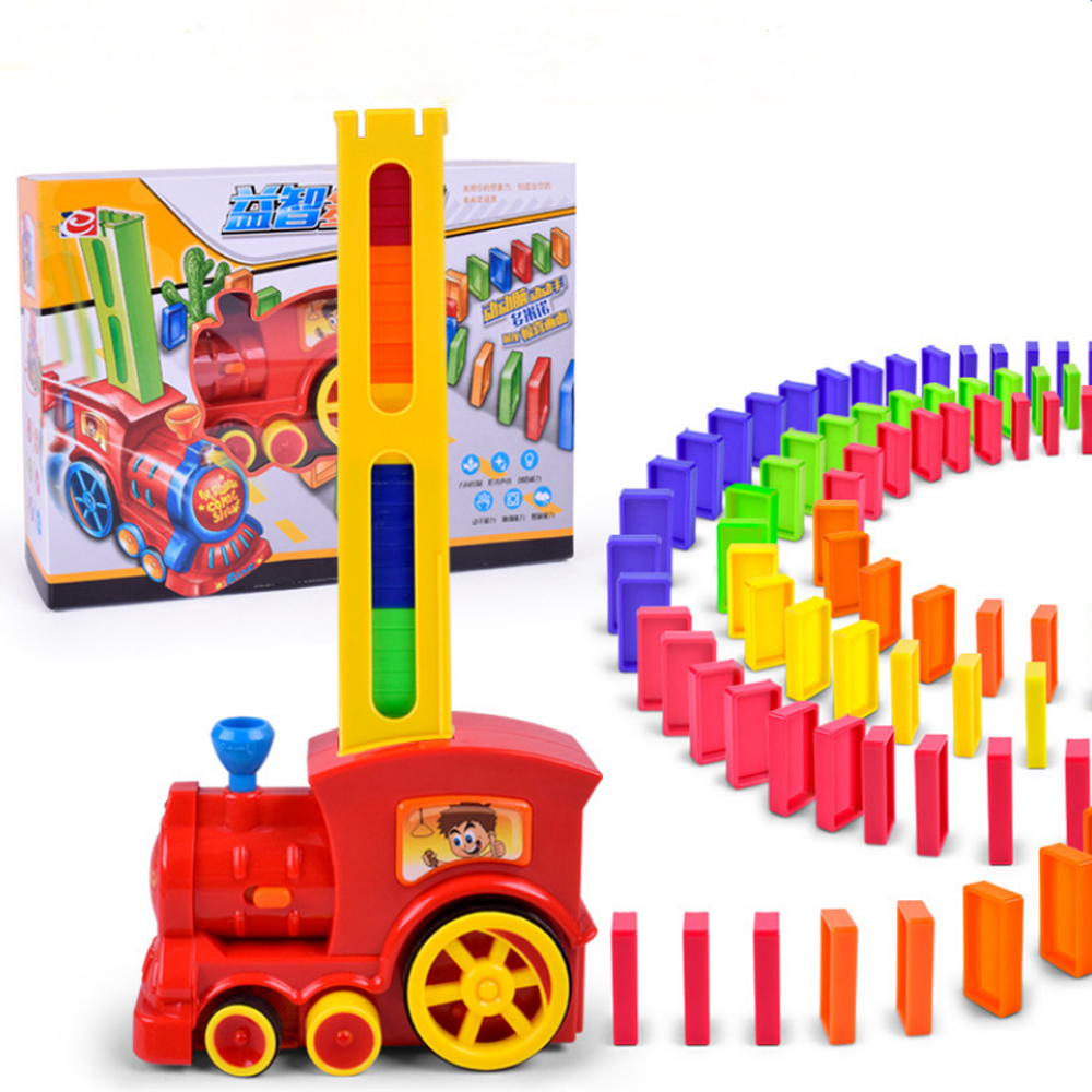 Creative Dominoes Building Blocks Electric Train Track Kids Educational Toy Creative Toy for Kid Children Creative Birthday Gift 6 in 1 solar toy diy robots plane educational kid gift creative