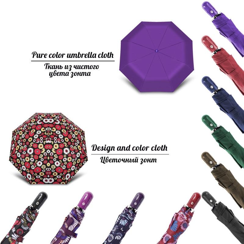 Creative Small Fully-automatic Umbrella Rain Woman Men Mini Portable Windproof Gift Travel Umbrella For Female Male Parasol