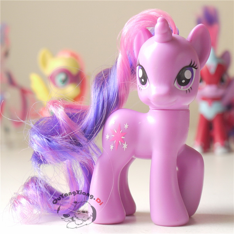 P8-115 Action Figures 8cm Little Cute Horse Model Doll Leg lift Twilight Sparkle Anime Toys for Children(China)