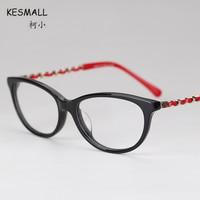 KESMALL 2017 Fashion New Prescription Eyeglasses Women Vintage Optical Glasses Frames With Myopia Lens Gafas Graduadas