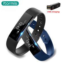 itormis Bluetooth Smart Band SmartBand Wristband Fitness Bracelet USB charging Sports Activity Tracker Pedometer PK mi band 2
