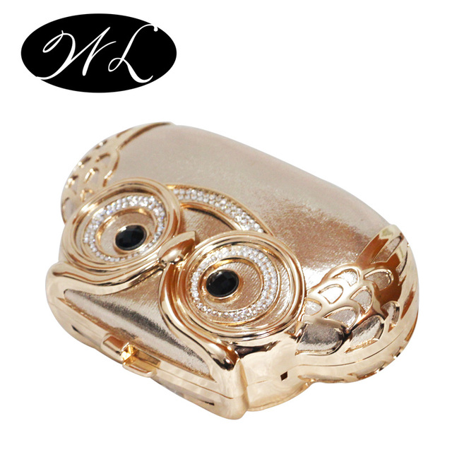 Metal Plated Owl Handbag