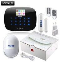 KERUI Android IOS APP 433MHz TFT Screen Alarm System SIM Card Phone Alarm Security
