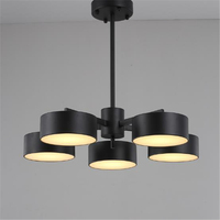 Black Gold Nordic Individuality New Post Modern Creative Metal Lampshade Dining Room Living Room Pendant Lamp