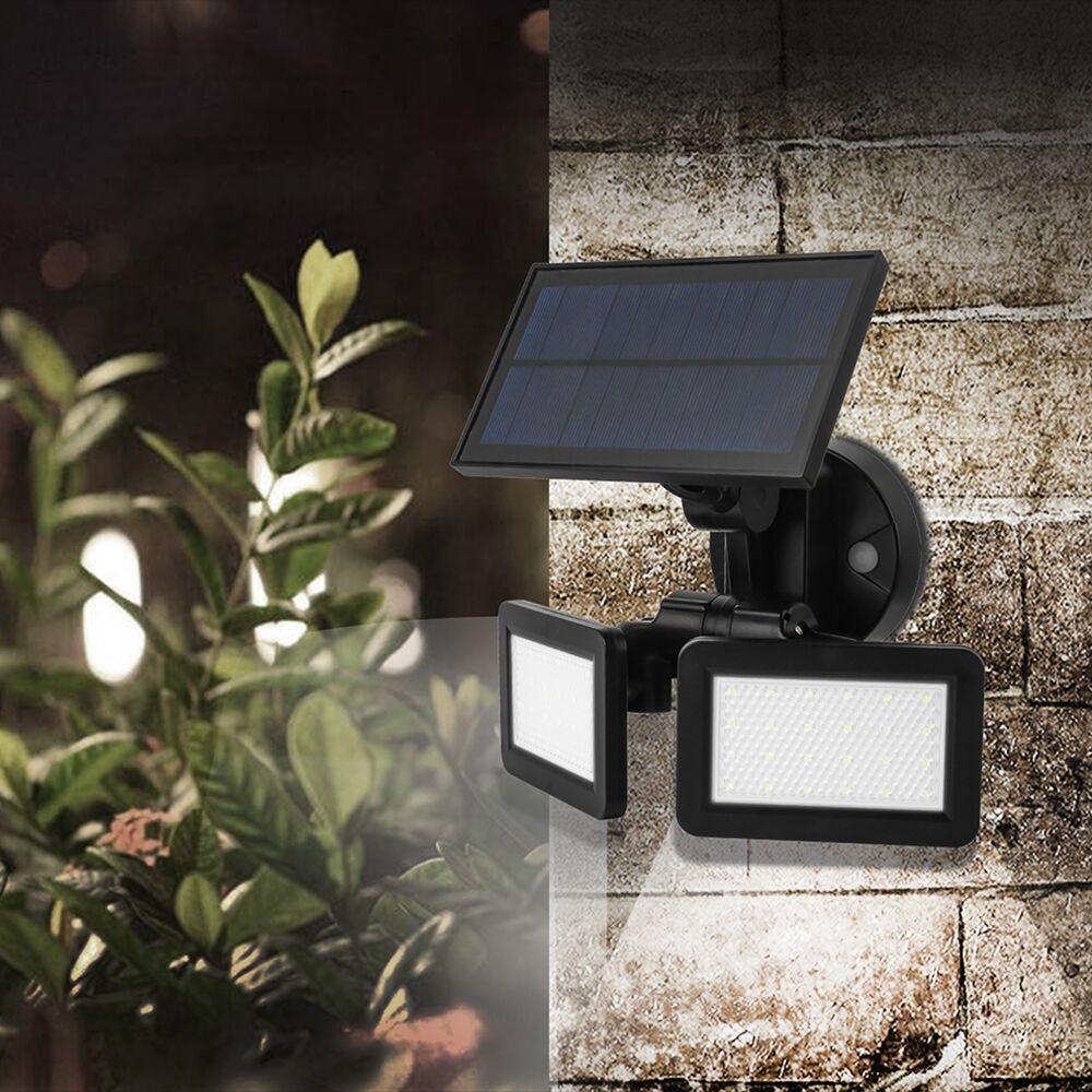 48 LED Solar Wall Light Dual Head Outdoor Waterproof LED PIR Motion Sensor Security Landscape For Garden Yard Flood LED Lamp
