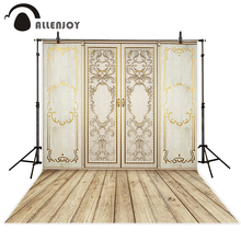 Allenjoy Background for photo Wooden board door royal palace Camera photography baby backgrounds for photo studio