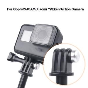 Image 4 - Tekcam Treppiede Selfie Stick Mount per Go pro eroe 7/6/5/4 Gopro Sessione di Montaggio SJCAM SJ6 SJ7 SJ8 SJ5000/XIAOMI YI 4K Lite Eken h9r