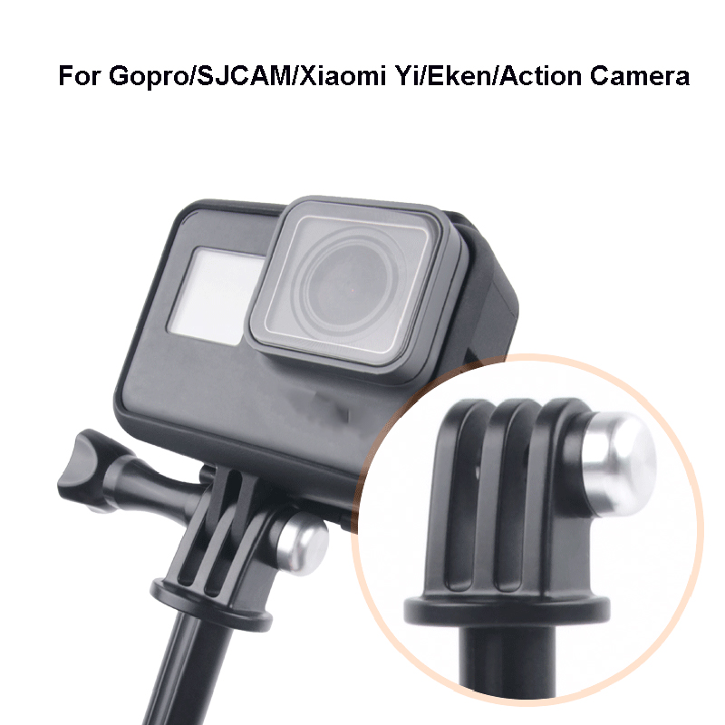 Image 4 - Tekcam Tripod Selfie Stick Mount for Go pro hero 7/6/5/4 Gopro Session Mount SJCAM SJ6 SJ7 SJ8 SJ5000/XIAOMI YI 4K Lite Eken h9r-in Sports Camcorder Cases from Consumer Electronics