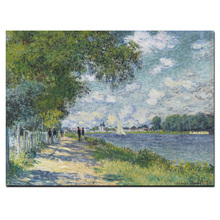 Claude Monet Seine in Argenteuil Impressionist Landscape Oil Painting on Canvas Art Poster Wall Picture for Living Room painting the impressionist landscape