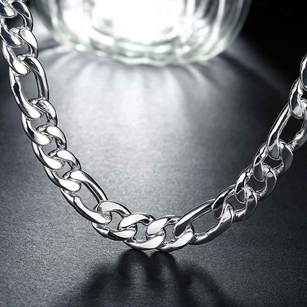 High Quality 10mm 22'' 55cm Link Chain Necklaces for Men 925 Sterling Silver Jewelry Statement Necklace