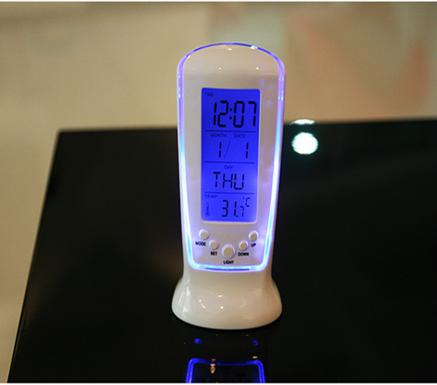 LED Table Digital Time Desk Clock Silent Desk Clock Modern Watch Table Alarm Clock Temperature Automobile Electronic Clock