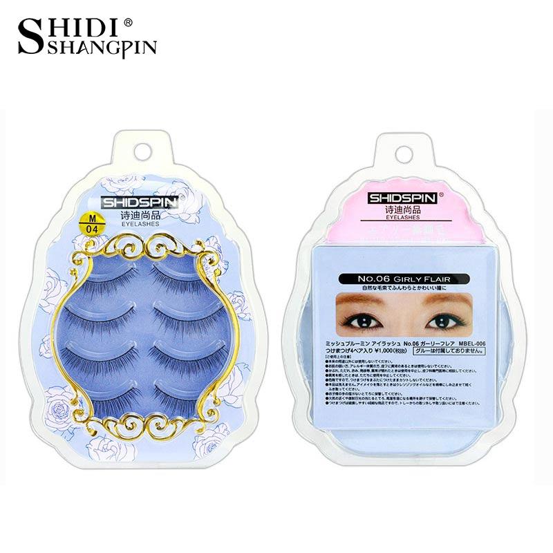 Lightweight 4 Pairs Fake Eye Lashes Long Handmade cruelty free Eyelash Extension False Eyelashes Natural Makeup Tools M-04