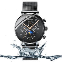 Top luxury brand Sapphire glass men's watches winding automatic loop clocks, Swiss gear case shark watch metal diver watch man