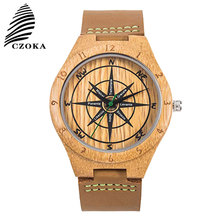 CZOKA Natural Wood Quartz Sport Watch Bracelet Reloj Mujer Casual Ladies Wrist Womens Watches Clock