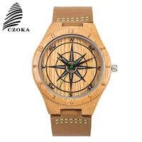 CZOKA Natural Wood Quartz Sport Watch Bracelet Reloj Mujer Casual Ladies Wrist Watch Wrist Women's Watches Clock