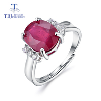 TBJ,Ruby rings natural gemstone oval 9*11mm 925 sterling silver fashion fine jewelry for girls wedding & birthday gift
