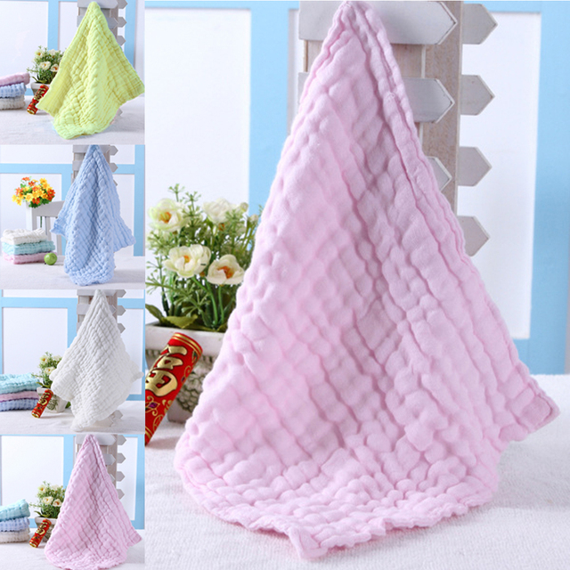 New Baby Square Gauze Towels For Sensitive Skin Washcloths Cotton Washcloths