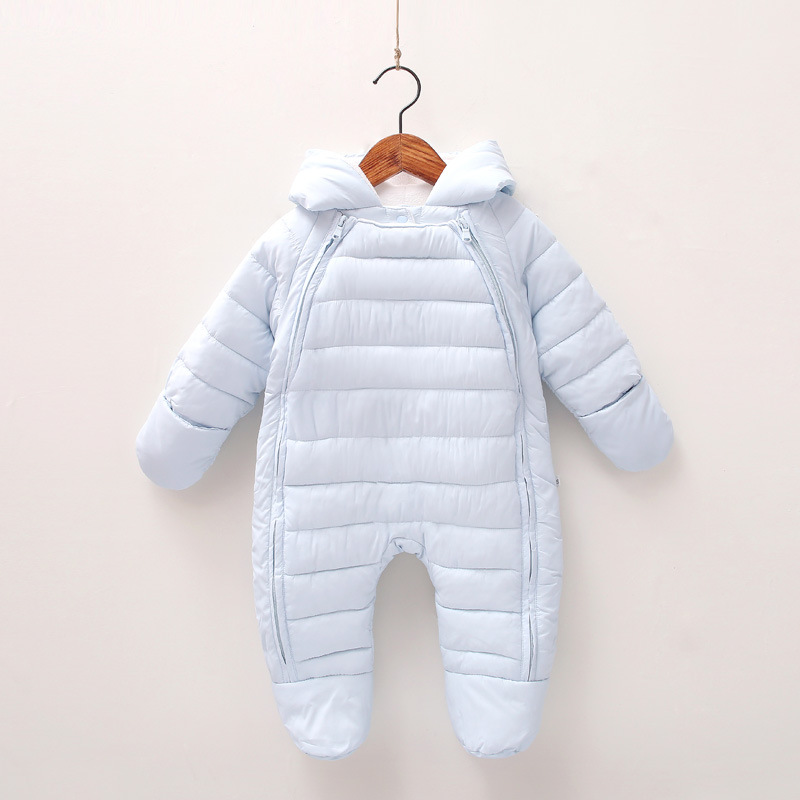 Winter Baby Thick Rompers Girls Boys Hooded Snowsuits Clothes Toddlers Cotton Padded Jumpsuits Infants wear Kids Overalls P124 winter baby rompers bear girls boys clothes hooded baby boys rompers cotton padded jumpsuits infants kids winter clothes