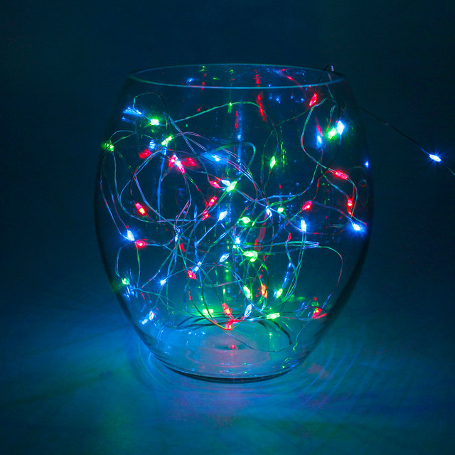 2M 20 LED String Light Copper Wire Powered by Christmas Lights 2x ...