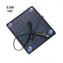 5.5 Вт 18 В Портативный Универсальный солнечных панелей сорта поликристаллического кремния солнечных панелей Солнечный Зарядное устройство для 12 В автомобиля батарея
