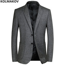 2018 New Men's Blazers Male Autumn Winter mens Classic Grey Blazer Jackets Homme Business Luxury Blazers for gentlemen M-3XL