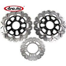 Arashi disques de frein avant/arrière CNC, 1 jeu, Rotors, pour KAWASAKI ZZR ABS, Rotors, 1400, 2008, 2015, ZZR1400 ABS, 2009, 2010, 2011