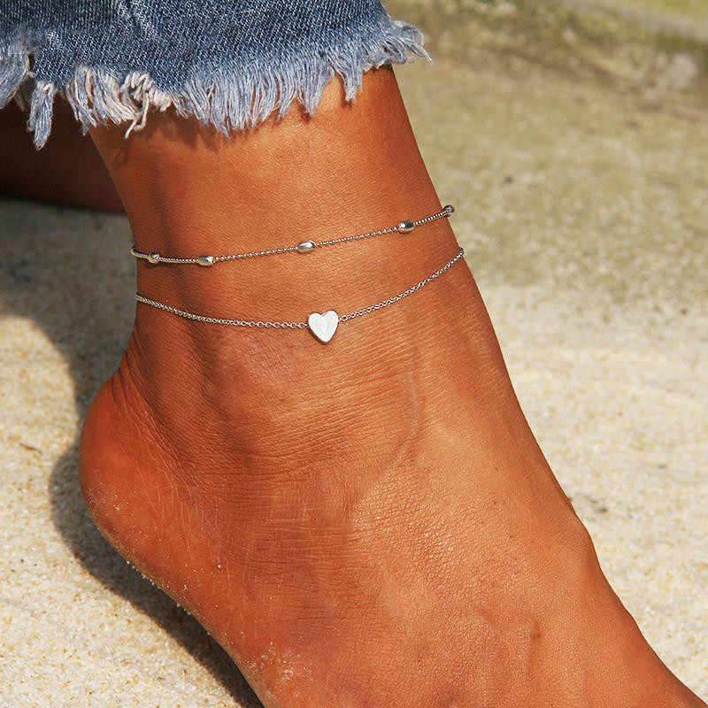 Simple หัวใจหญิง Anklets