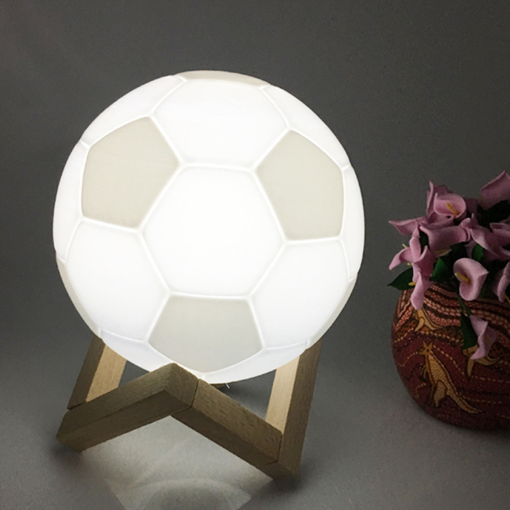 3D Printing moon lamp Creative football night light USB Charging High quality led beads with control for Home decoration Gift