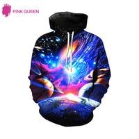 Pink Queen New Fashion Galaxy Planet Sweatshirt Hoodies 3D Print Hip Hop Coats Casual Sweatshirt Sportwear