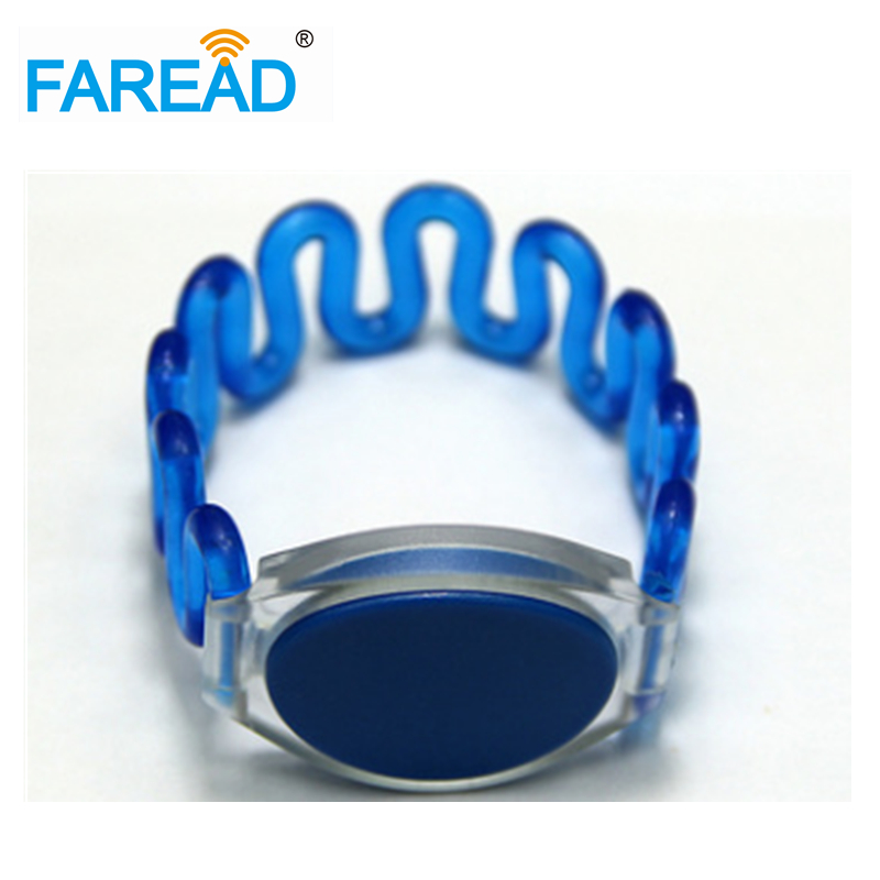 X100pcs Free Shipping 13.56MHz I-CODE-2 RFID Wristband  For Swimming Pool,  Sauna Bath Center
