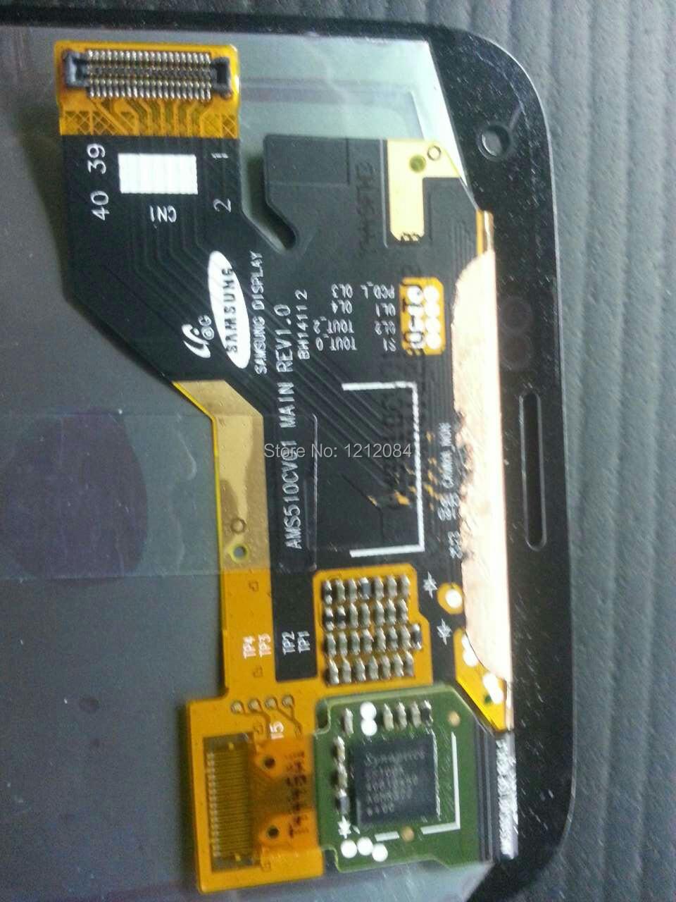 Prix pour Lcd pour Samsung Galaxy S5 i9600 sm - G900F sm - G900 G900 G900F écran + tactile assemblée verre bleu foncé / blanc