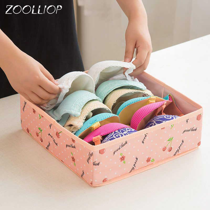 Ropa interior sujetador organizador caja de almacenamiento varios colores cajón armario organizadores cajas para ropa interior bufandas calcetines sujetador