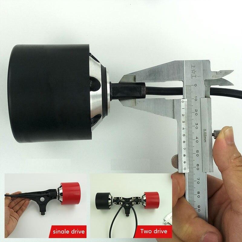 1 unid 70mm 83mm 90mm monopatín eléctrico Motor de cubo con negro o rojo PU cubierta para conducir o Dual eléctrica longboard - 4