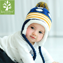 Baby Hat Warm Winter Caps For Baby Boys Girls Cute Penguin Style Newborn Hat Child Crochet Earflap Cap kids Colorful Beanies Hat