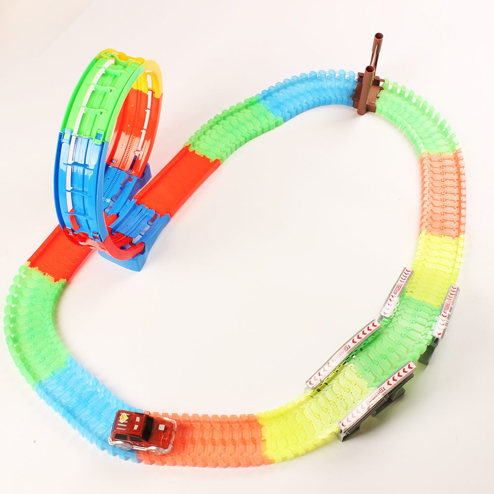 360 degree circular track Loop Magic Glow in the Dark Flexible Assembly Luminous Track System gift Educational toys for childre